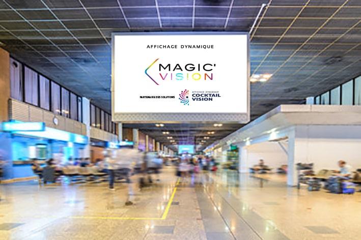 Panneau LED aéroport - Magic Vision