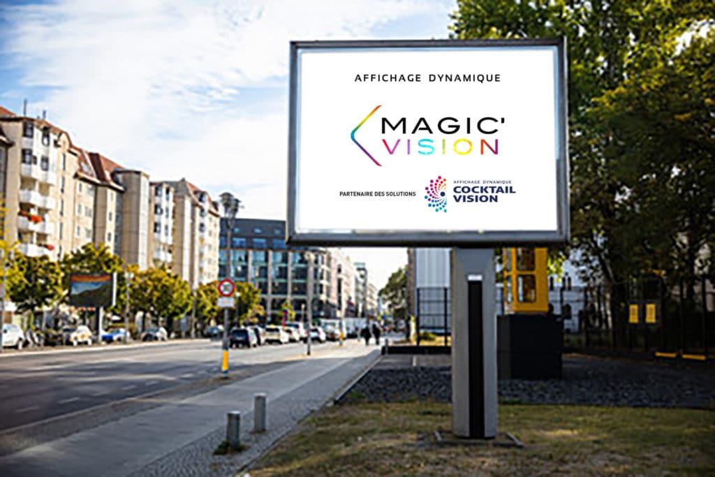 Affichage numérique dynamique citadin Cocktail Vision - Magic Vision