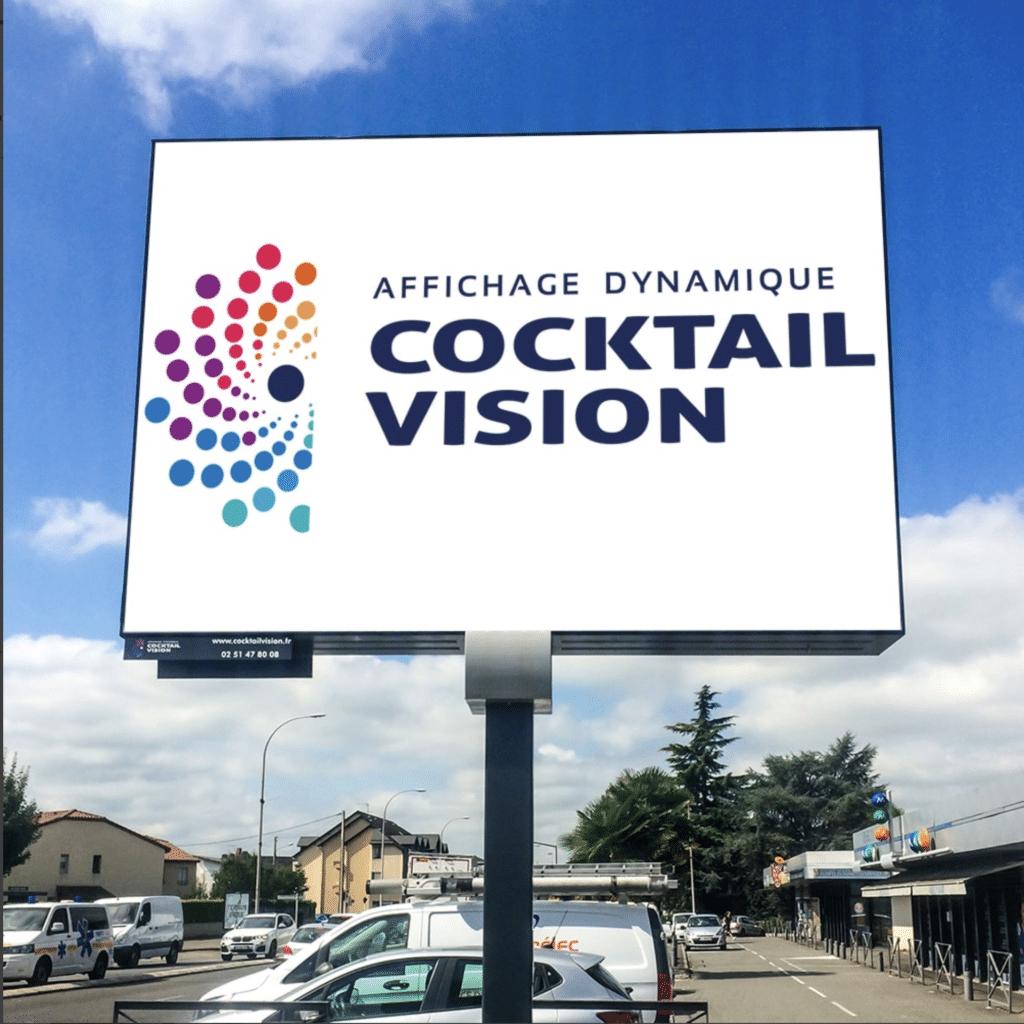 Panneau LED sur Mat Affichage Dynamique Cocktail Vision - Magic Vision