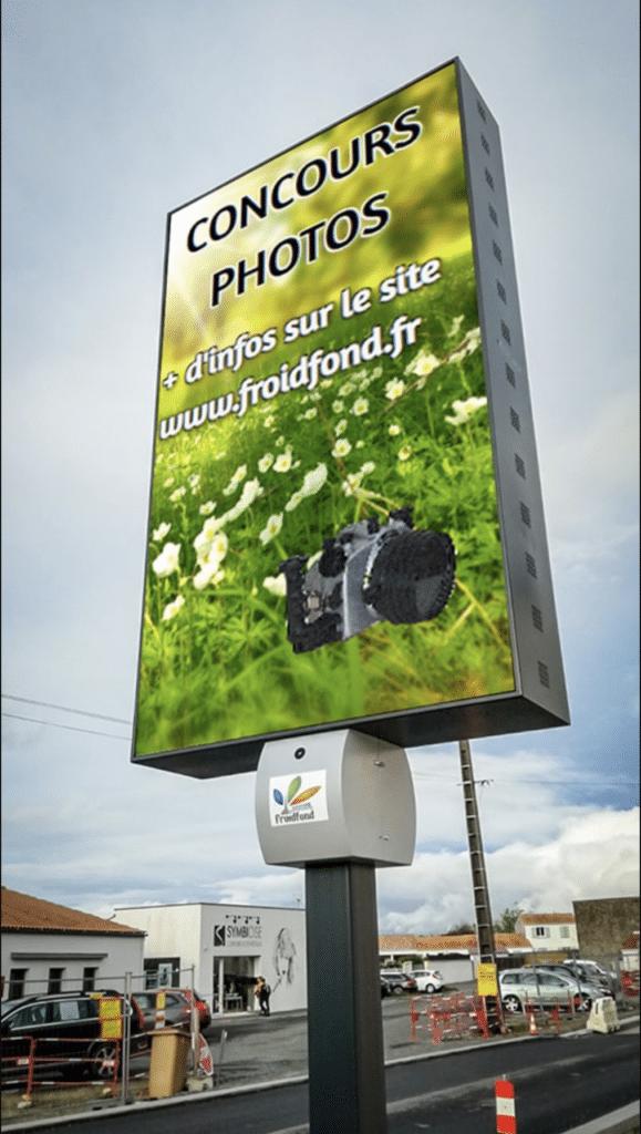 Panneau LED sur Mat Affichage Numérique concours photos - Magic Vision