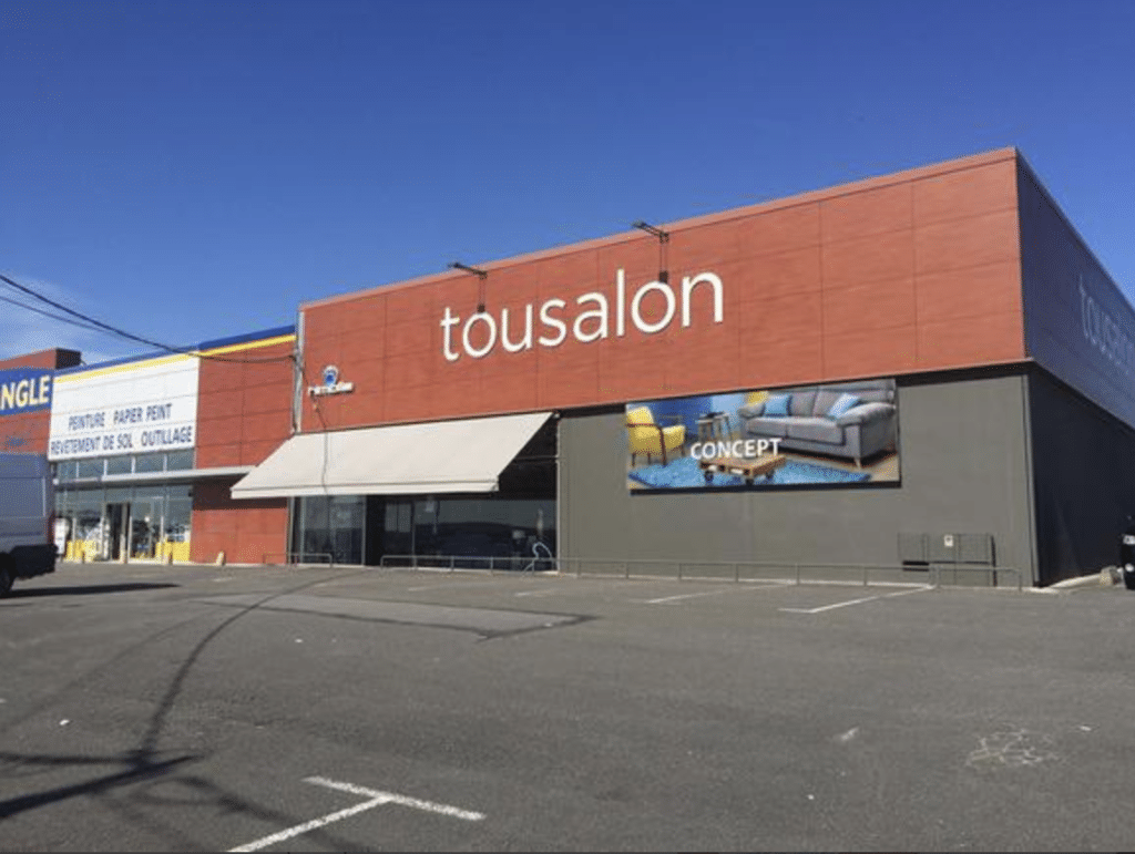 Panneau LED extérieur Enseigne sur façade TOUSALON - Magic Vision