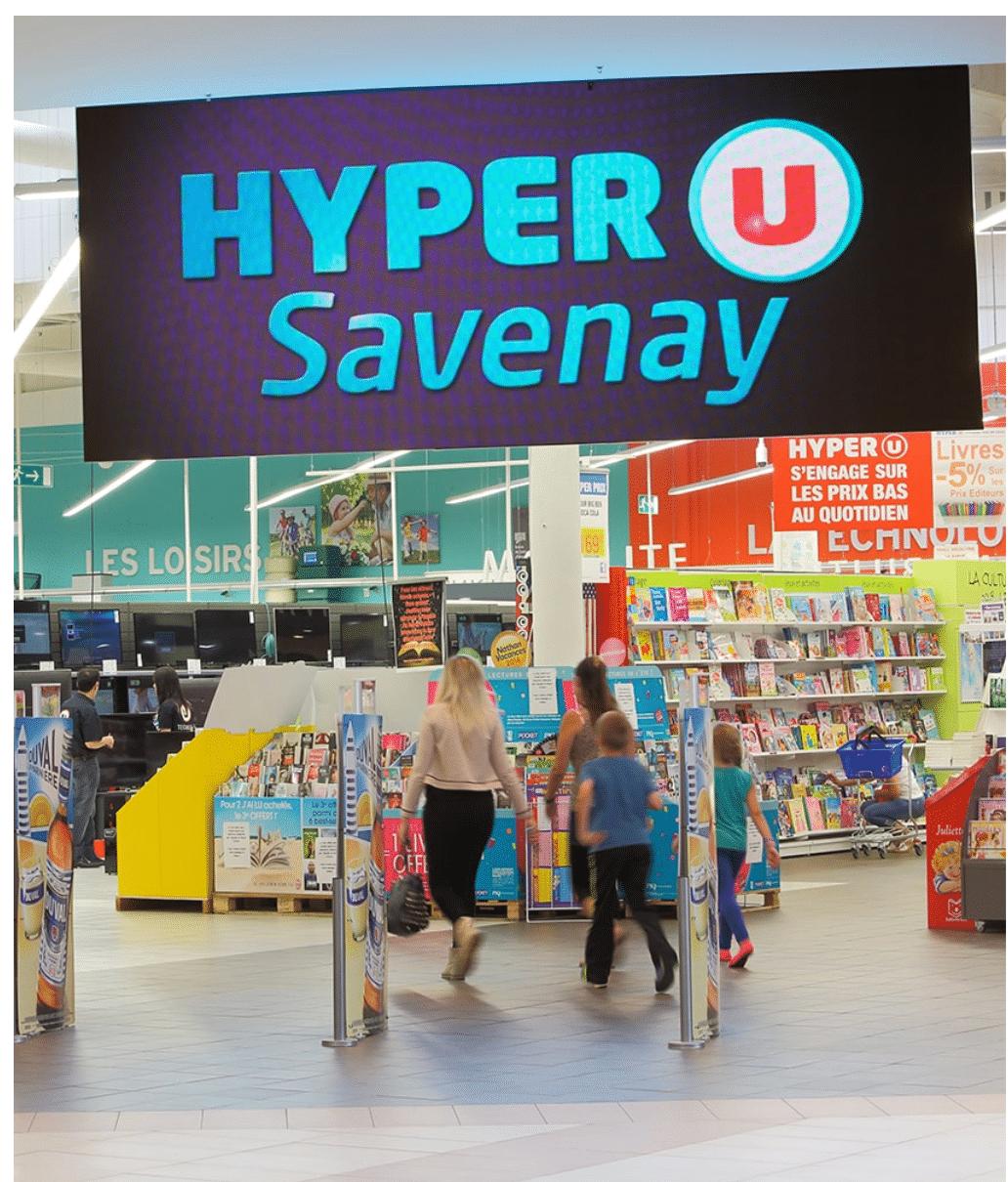 Panneau mural LED dynamique numérique Hyper U