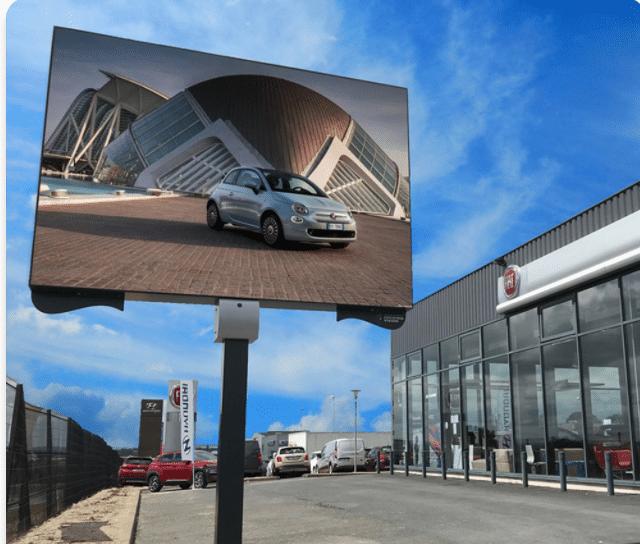 Panneau LED sur Mat FIAT - Magic Vision